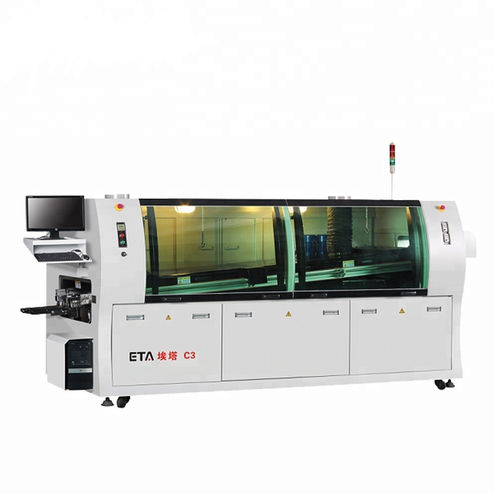 High Precision LED Bulb Assembly Machine SMT Leed Free Wave Soldering for SMT Line W3