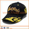 Fashion applique embroidery racing flame baseball cap