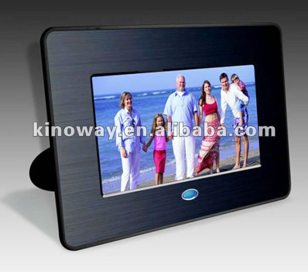 "7"" metal panel digital photo picture frame consumer electronics with LCD screen"