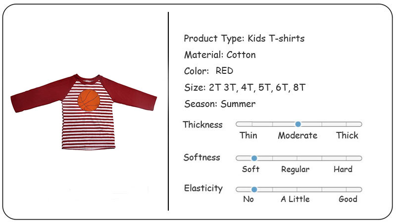 Wholesale Cheap Cotton Children's long sleeved t-shirt printing Kids Clothing baseball T Shirt for boys and girls Yiwu Factory