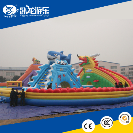 banzai inflatable water slide, giant bouncy castle