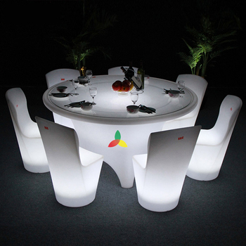 Round banquet big table dinner Tables With LED Light Effects 16 color change