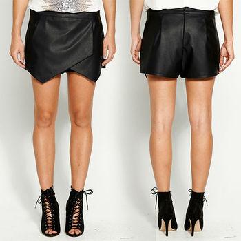 80b3ee961 2014 Nueva Llegada Asimétrico Tight Negro Pu Mini Falda Cuero Falda  Pantalón Pantalones Para Las Mujeres - Buy Pu Mini Falda,Negro Pu Mini ...