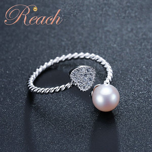 Supply Different Design Adjustable Size Freshwater Cultured Pearl Ring