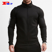 Wholesale Mens Gym Clothing Custom Fitness Wear Polyester Jacket Men Sports Jacket