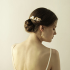 O831 Wholesale alloy leaves metal wedding hair comb fashion goody pearl bride hair comb wedding hair accessory