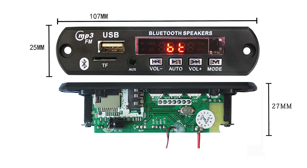 Audio System Usb Mp3 Player Bluetooth Microphone Circuit