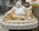 Jade Laughing Buddha Statue for Decoration