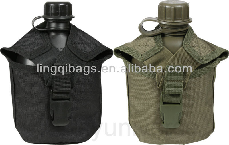 Widerness Survival Hunting Field Gear - Army Camo Hydration Water Bottle Pouch and Canteen Drinking Flask Cover