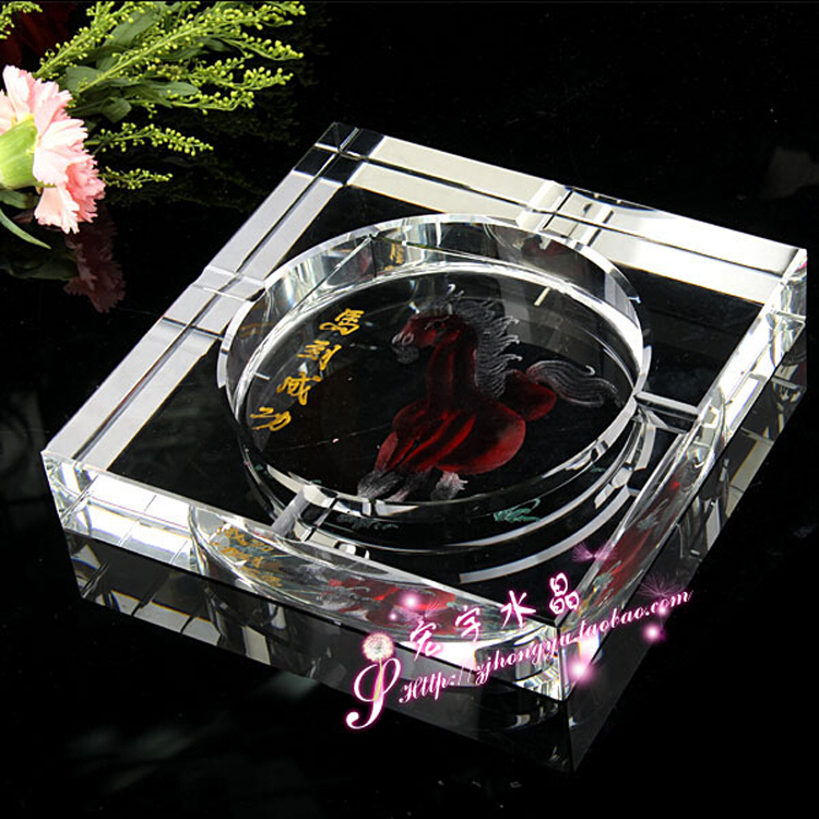 promotional crystal gift custom floor ashtray