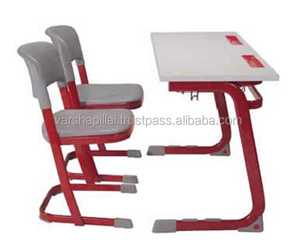 School Furniture Double Seater Desk and Chair / Classroom Student Desk Furniture
