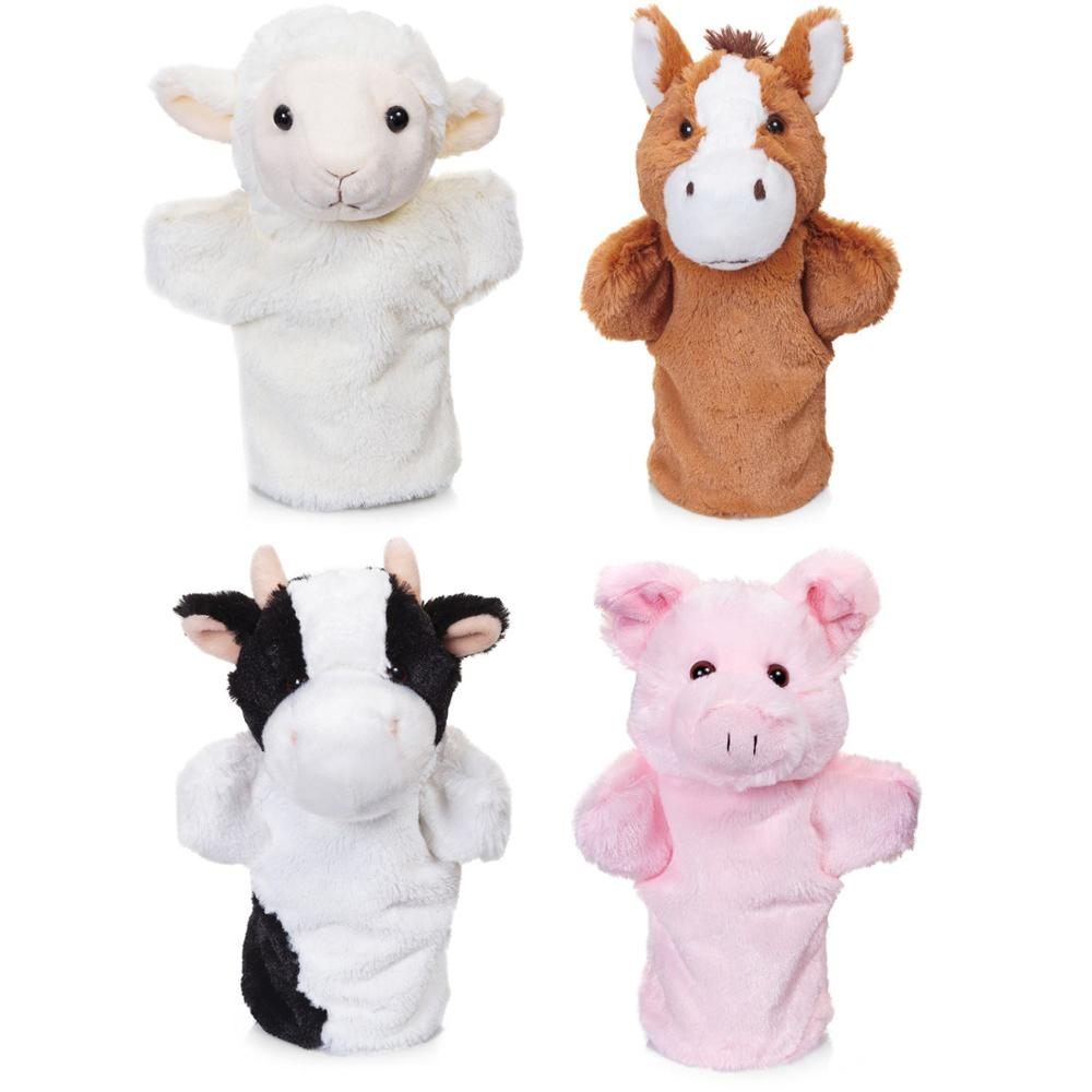 plush animal puppet/animal sock puppets/animal felt finger puppets