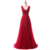 Elegant Red Appliqued Tulle Long Evening Dresses 2016 A-line Square Backless Sweep Train Prom Dresses Wedding Party Gowns