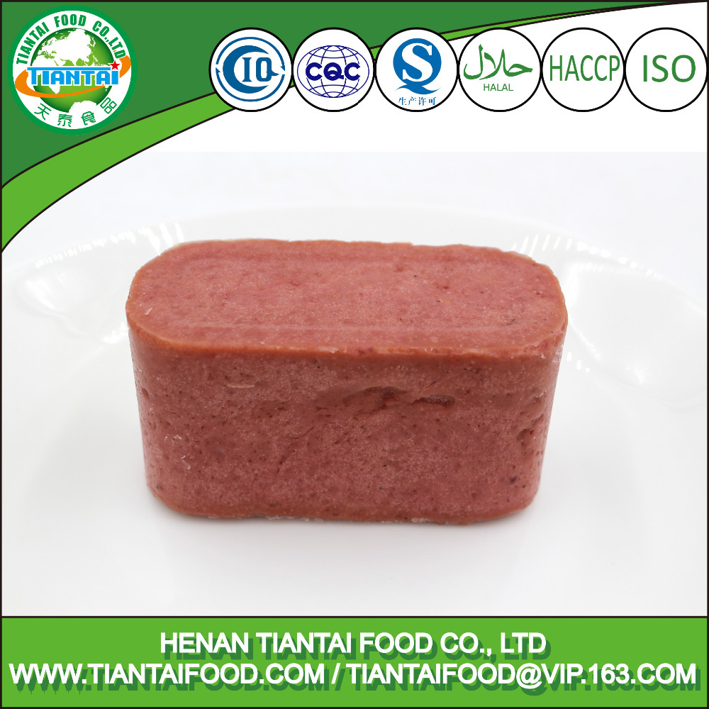 halal food canned meat 340g luncheon meat China supplier