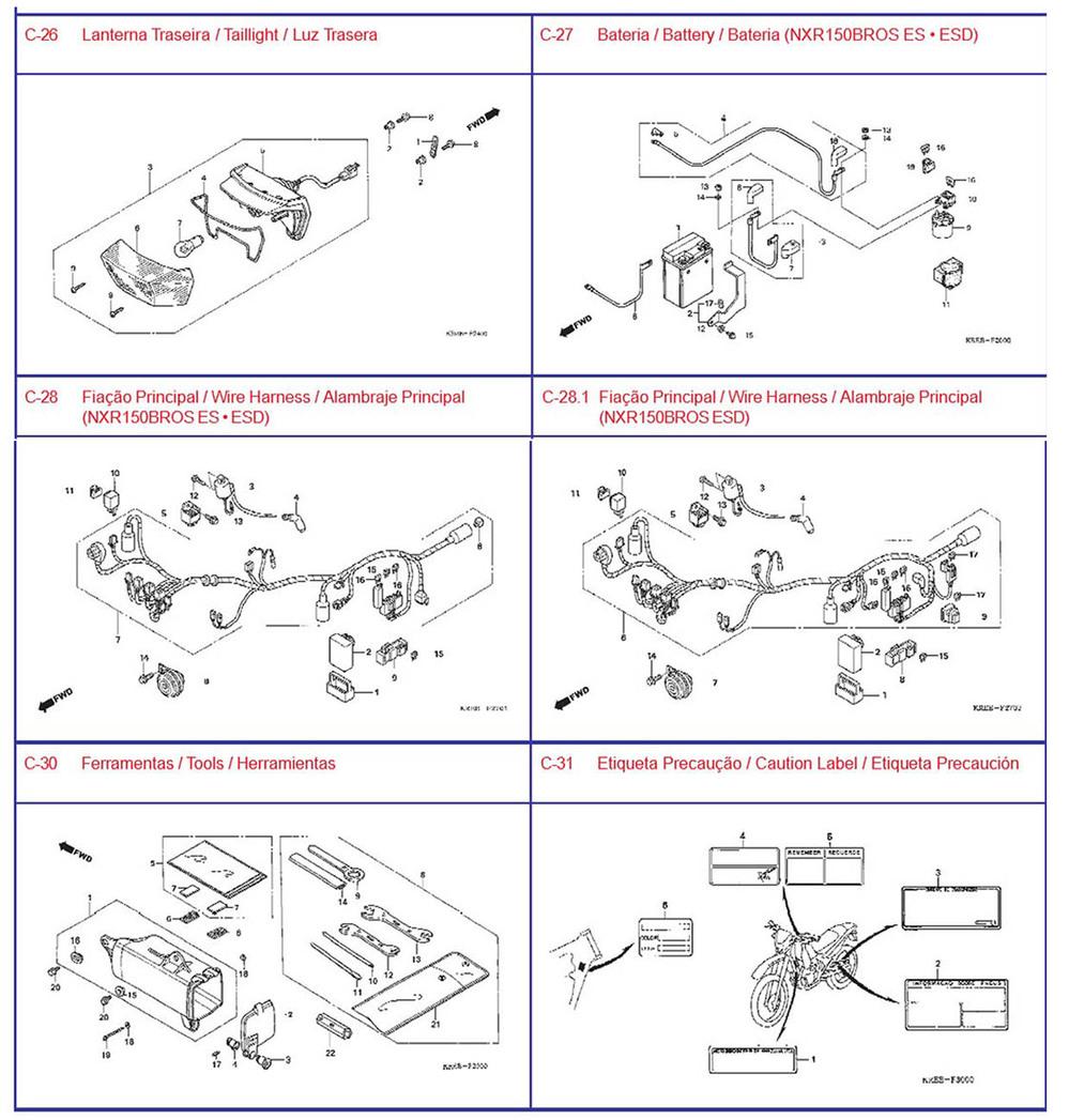Factory Motorcycle Spare Partsfor Honda Parts Nxr150 Repair Diagrams For