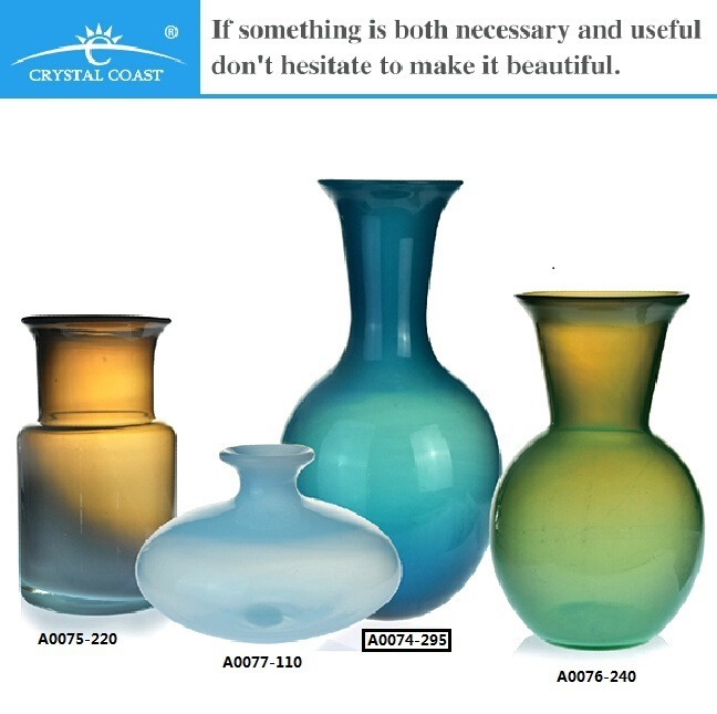Mouthblown Tall Murano Color Glass Vase,Home Decoration Items,Home