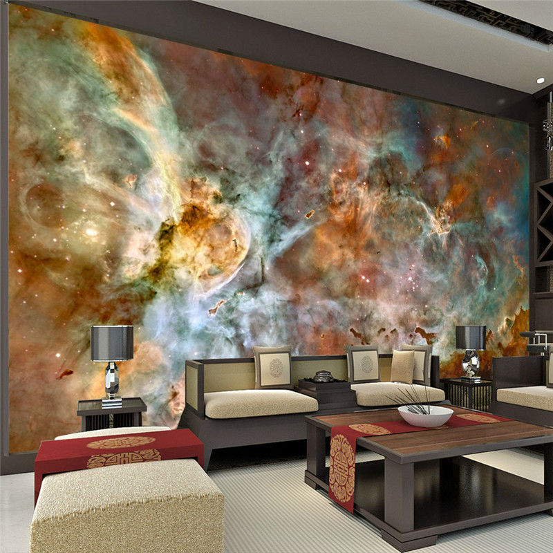 charming galaxy wallpaper nebula photo wallpaper 3d silk wall mural poster large wall art room. Black Bedroom Furniture Sets. Home Design Ideas