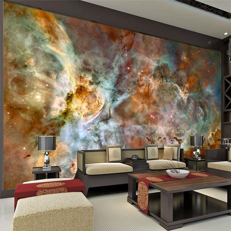 Poster Mural 3d : charming galaxy wallpaper nebula photo wallpaper 3d silk wall mural poster large wall art room ~ Teatrodelosmanantiales.com Idées de Décoration