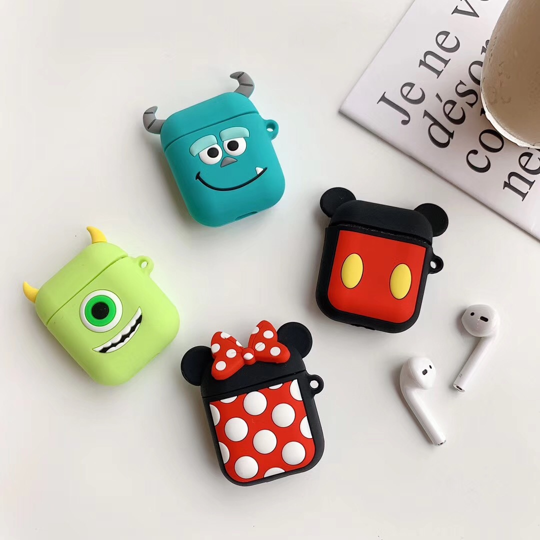 Cute Creative Cartoon 3D Premium Silicone Anti-dust Protective <strong>Case</strong> with Key Chain Carrying Holder