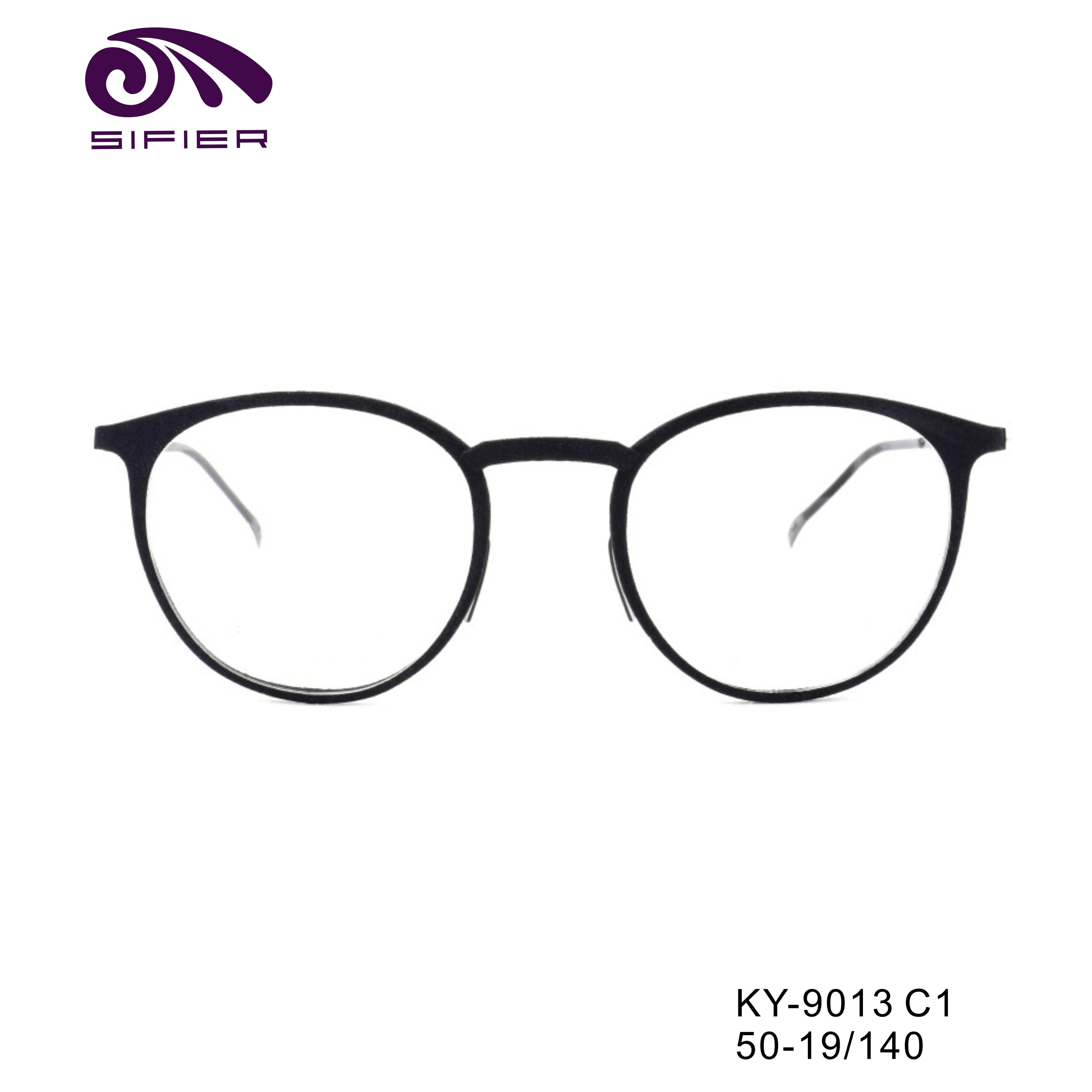 f8cfdf8057 Moda hombre rectángulo Eeywear lleno-borde de Metal redondo no receta claro  gafas ópticas con