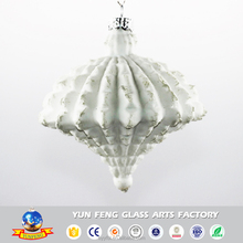 Idea shaped irregular arts glass hanging christmas decorations