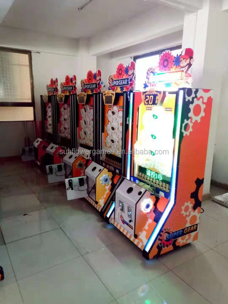 High earning Sunflower Super Gear arcade ticket games ticket redemption game machine lottery ticket machine for sale