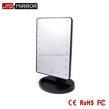 Dry battery square shaped one side makeup desk with lighted mirror