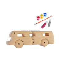 3D wooden craft puzzle bus