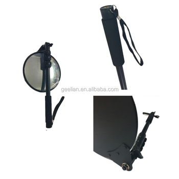 Best selling under vehicle inspection round 15-20cm mirror v2 bomb search mirror under car security geelian