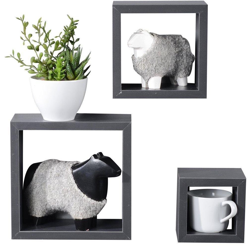 Get Quotations Heselian Floating Cube Shelves Square Wall Shelf Box Set