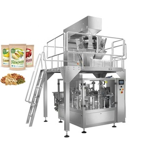 Automatic Snack Food Premade Zipper Bag Doypack Filling And Sealing Machine