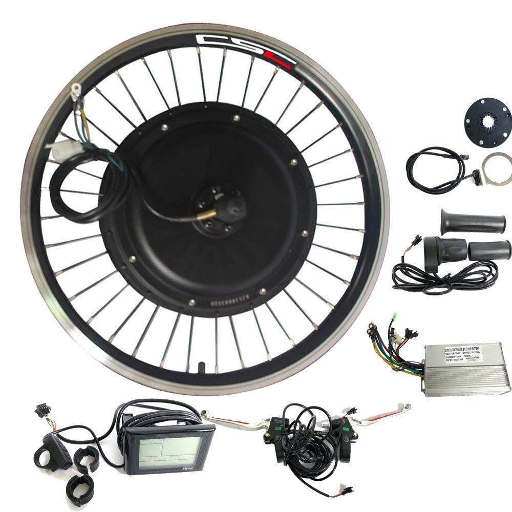 CSC Electric Bike Conversion Kit with Hub,Rear Wheel, Motors and LCD for MTB, Cyclocross Bicycle, Road Bike,36V, 250-500W, 20 Inches, 24 Inches, 26 Inches, 27 1/2 Inches, 28 Inches, 29 Inches,700C
