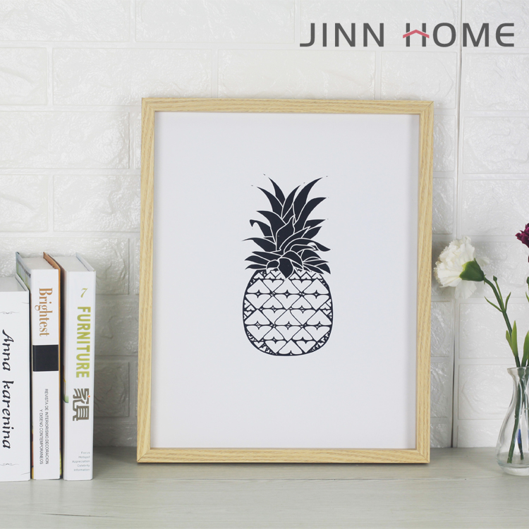 High quality wall hanging photo frames decorative art frame wood pineapple picture frames wholesale