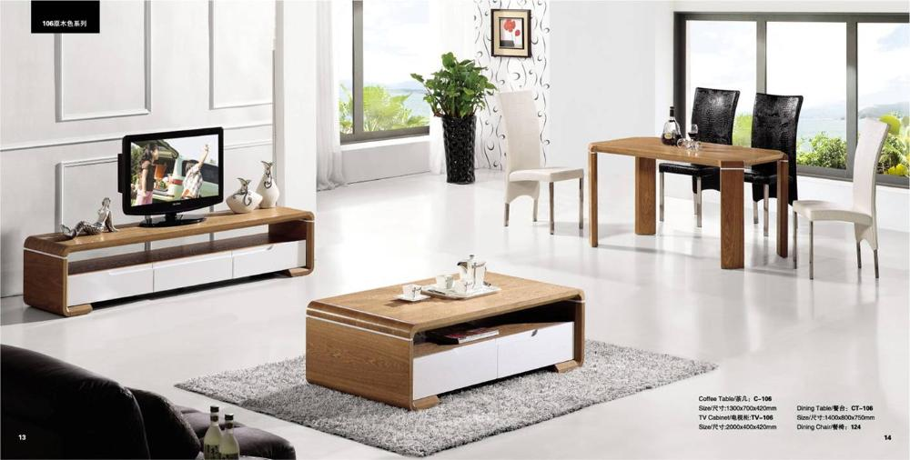 Living room coffee table tv cabinet and dinning table set - Three piece living room table set ...