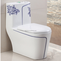 106D Big size bathroom one piece siphonic cheap ceramic toilet
