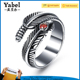 Wholesale Stainless Steel Feather Shape Punk Style Zircon Ring For Men