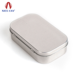 Rectangular Candy peppermint aluminum tin can chewing gum mints food grade storage metal tin box