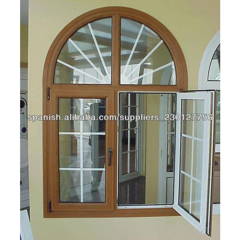 buena calidad nuevo diseo de ventanas abatible de pvc con arco