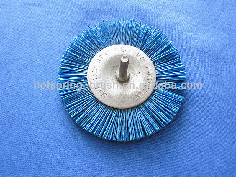 nylon wire shaft wheel brush