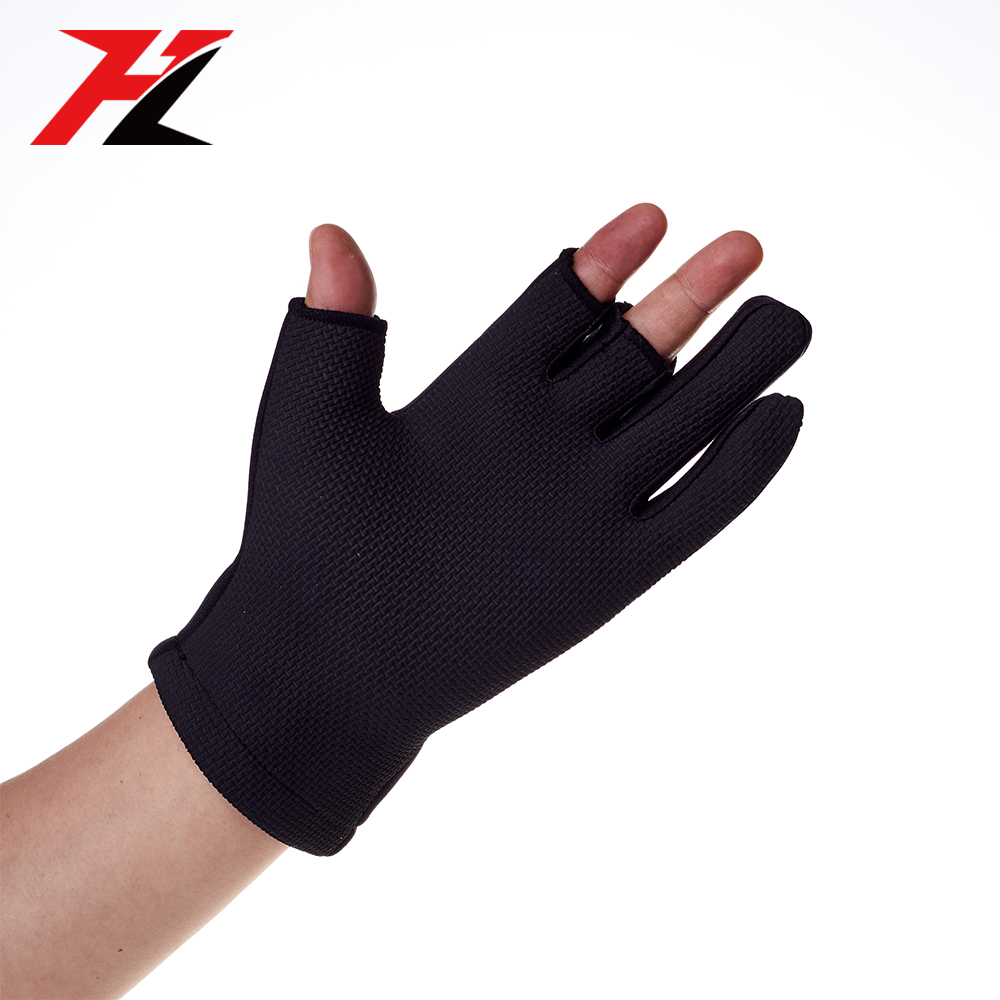 Hot selling neoprene waterproof fingerless fishing gloves