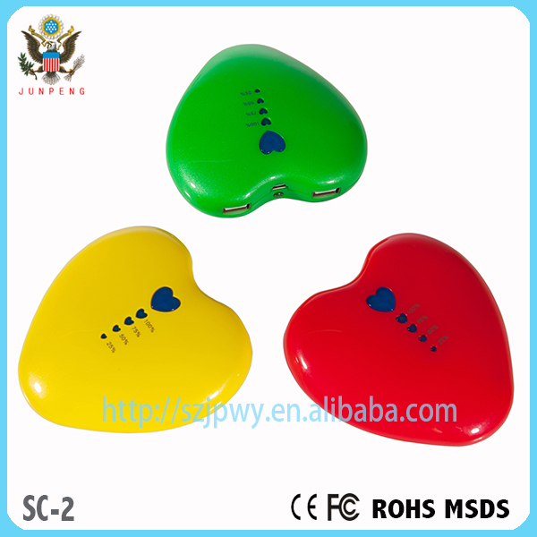 Direct Circuit Heart Shape Power Bank Mobile Battery Charger ...