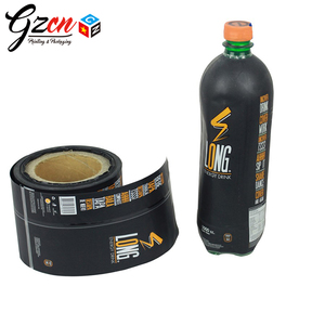 cheap price printing plastic bottle sleeve wrap pet pvc shrink label