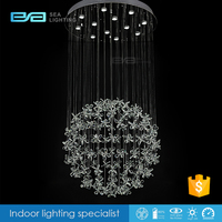 Modern hanging flower GU10 stainless steel crystal rainbow chandelier 2112441