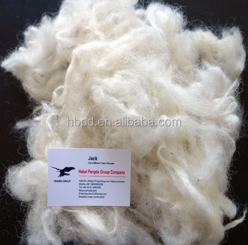 100% Raw White haired Goat Wool/Cashmere Fibre Made In China