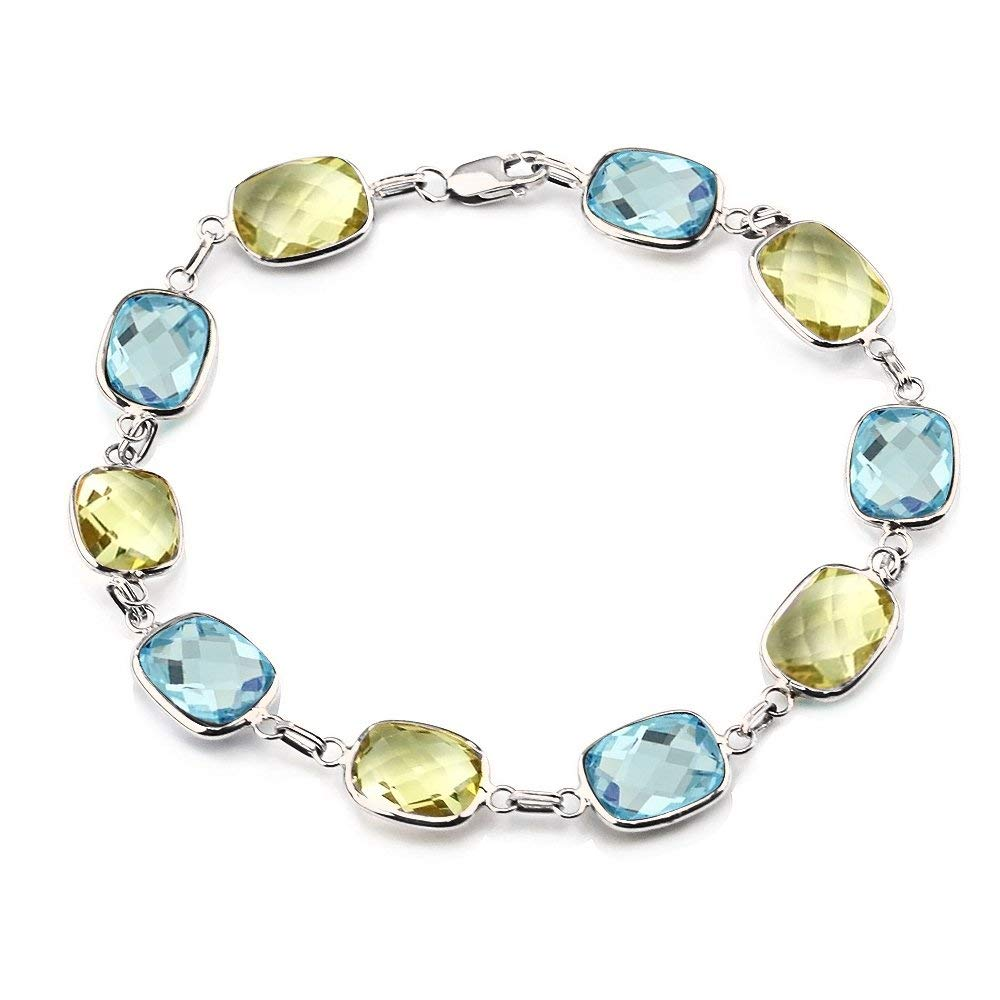 Fashion Jewelry Faceted Peridot Topaz Gemstone Handmade Bracelet Cuff Quality And Quantity Assured