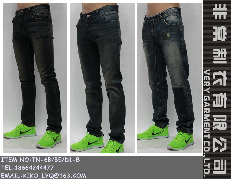 dritto vecchio jeans uomini tubo stile rifiniti dei Fabbricazione di rotti l'aspetto degli del Pw8Okn0