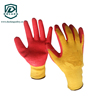 Organic cotton latex coated gloves buy from China supplier