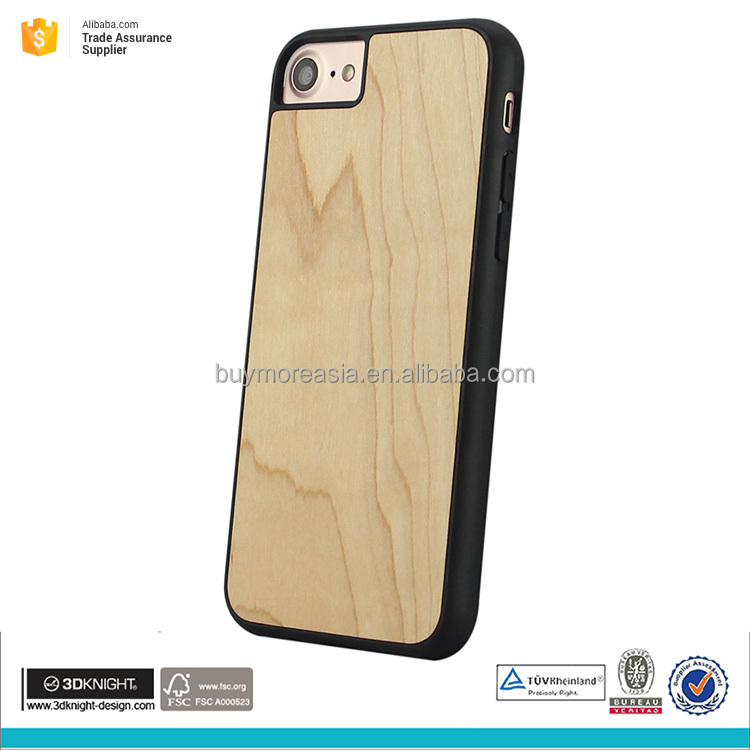 Factory wholesale wooden mobile phone cover for iphone 7