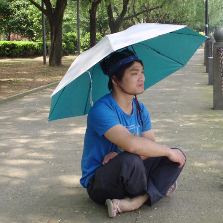 d1359794d Wholesale-New Arrival!!! Men Foldable Umbrella Hat Hiking Beach Fishing  Umbrella Hat Cap Portable Head Hats Umbrella Outdoor Necessary
