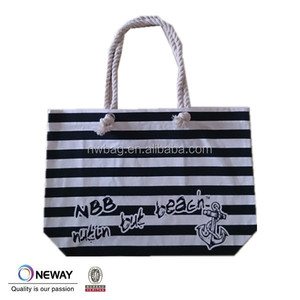 2015 Cute style promotional canvas beach bag,wholesale beach bag,Promotional high quality large tote beach bag